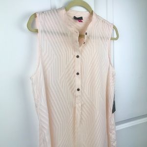 NWT VINCE CAMUTO Pink Blush Sleeveless Blouse- Med